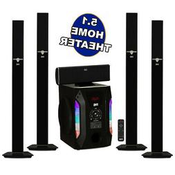 """Acoustic Audio AAT1003 Tower 5.1 Home Speaker System with 8"""""""