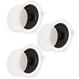 """Theater Solutions 6.5"""" In Ceiling Surround Sound HD Home The"""