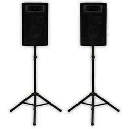 Acoustic Audio PA-500X Passive 800W 3-Way Speaker Pair and S