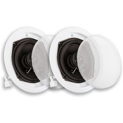 Acoustic Audio R-191 Flush Mount In Ceiling Speakers Home Th